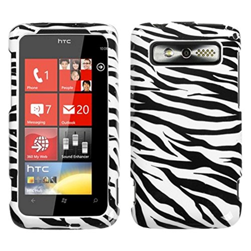 MYBAT HTC7TRPYHPCIM056NP Slim and Stylish Protective Case for HTC Trophy - 1 Pack - Retail Packaging - Zebra - Htc Case Silicone Trophy