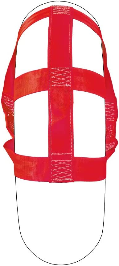 Porotmotor Universal Motorcycle Rear Wheel Transport Tie Down Strap in Red