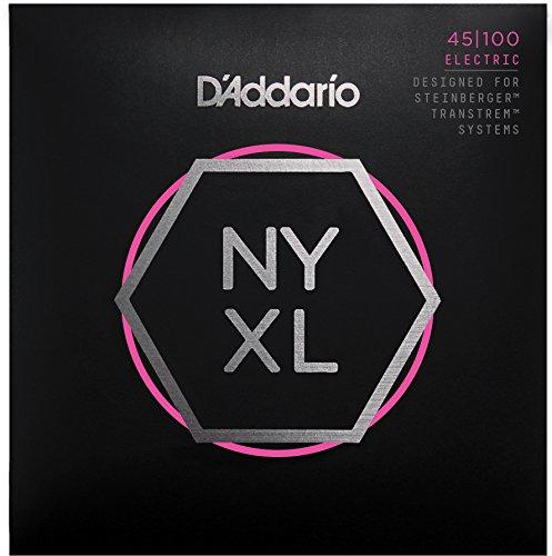 Nickel Guitar Plated Strings Bass (D'Addario NYXLS45100 Nickel Plated Bass Guitar Strings, Light)