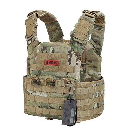 OneTigris MOLLE Tactical Vest 500D Cordura Nylon (Multicam)