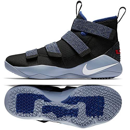 3e96f699f10 Galleon - NIKE Lebron Soldier XI 897644 005 Black White Deep Royal Blue  Men s Basketball Shoes (12)