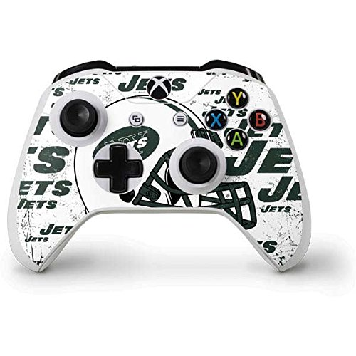 (Skinit New York Jets - Blast Alternate Xbox One S Controller Skin - Officially Licensed NFL Gaming Decal - Ultra Thin, Lightweight Vinyl Decal Protection )