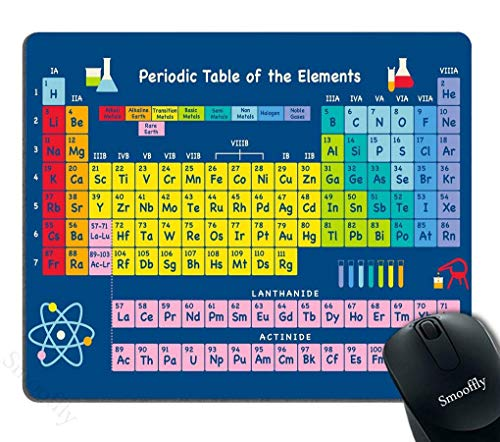 Gaming Mouse Pad Custom,Periodic Table by Chemistry Elements for Classroom Geek Science Lovers Non-Slip Thick Rubber Large Mousepad
