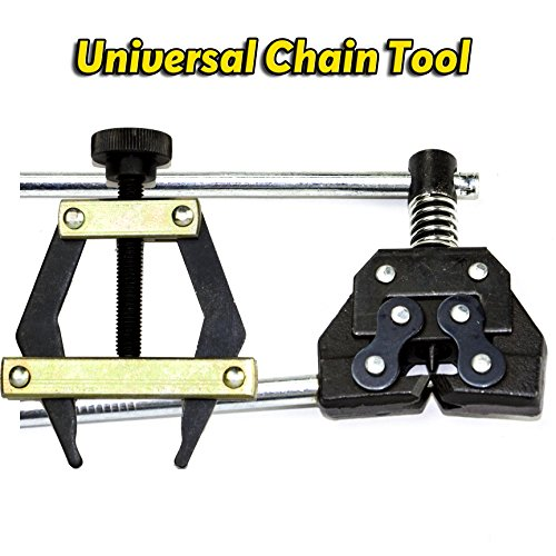 60 Chain Breaker (Roller Chain Tools Kit, Chain Holder/Puller+Breaker/Cutter For #25-60, Bicycle/Motorcycle/Go)