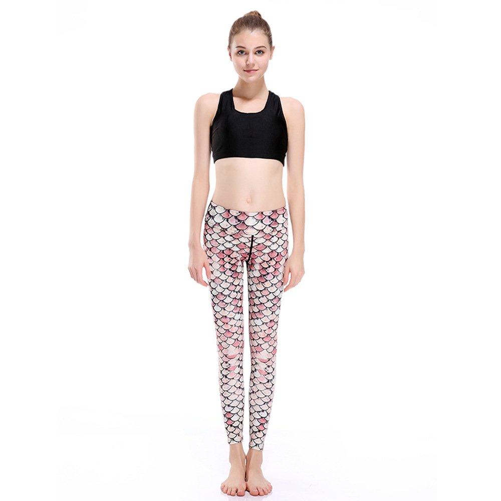 GYXYYF Sport Yoga Hosen Fischschuppen Khaki Super Elastisch Schnell Trocknend Neun Punkte Yogahosen