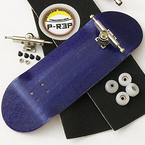 Peoples Republic Purple 32mm n.EXT Complete Wooden Fingerboard w CNC Lathed Bearing Wheels