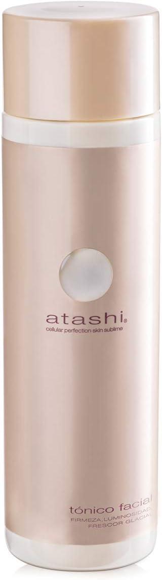 Atashi Firmeza y Luminosidad - Tónico Facial   Refresca, Purifica y Hidrata Piel   Minimiza Poros   Con Ácido Glicólico   Liposomas de Agua Glacial   Apto Para Todo Tipo de Pieles - 250ml