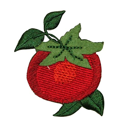 ID #1244 Tomato Fruit Food Embroidered Iron On Applique Patch