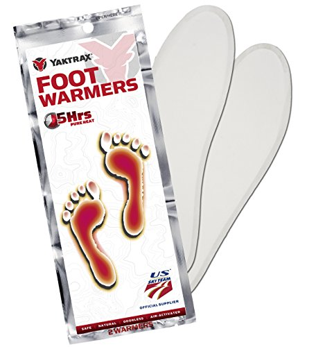 Yaktrax Adhesive Insole Foot Warmer, 20 Pair, Medium/Large