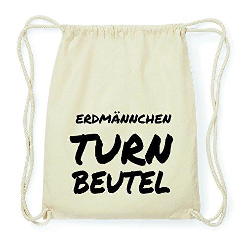 JOllify ERDMÄNNCHEN Hipster Turnbeutel Tasche Rucksack aus Baumwolle - Farbe: natur Design: Turnbeutel XiEGeqB4Ld