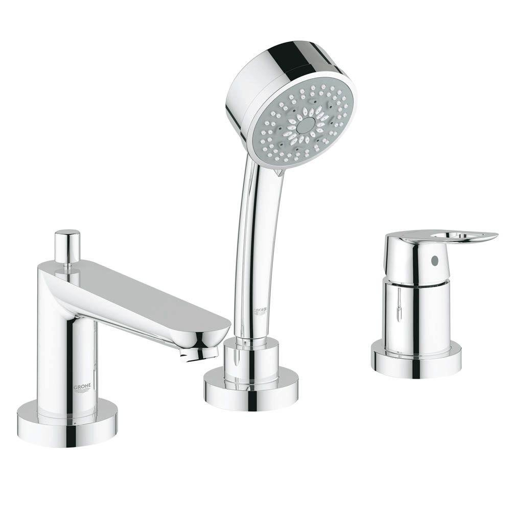 Grohe 19592000 Bauloop 3-Hole Roman Tub Faucet in Starlight Chrome ...