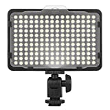 Craphy 176 LED PT-176S Ultra Compact LED On Camera Photo Video Light with Dimmable Panel White Orange Filters for Canon Nikon Pentax JVC DSLR DV Camcorder