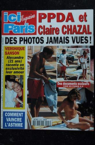 ICI PARIS 2548 1994 mai PPDA et Claire CHAZAL topless