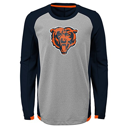 Outerstuff NFL Chicago Bears Kids & Youth Boys Mainframe Performance Tee Deep Obsidian, Youth Medium(10-12)