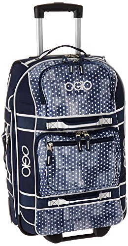 OGIO International Layover, Navy Polkadot/White (Dot White Luggage Rolling Polka)