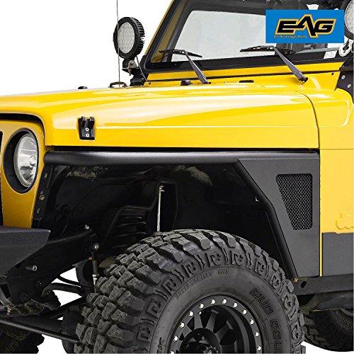EAG 97-06 Jeep TJ Wrangler Tubular Front Fender Flare Rocker Guard