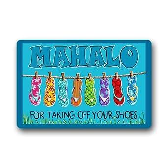 Custom Machine-washable Door Mat For Taking off your shoes Indoor/Outdoor Doormat 30(L) x 18(W) Inch