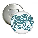 Mexico Totems Mexican Animal Ancient Civilization Round Bottle Opener Refrigerator Magnet Pins Badge Button Gift 3pcs