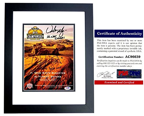 Urban Meyer and Chris Leak Signed - Autographed OFFICIAL 2006 National Championship Program Cover - UF Gators vs OSU Buckeyes - BLACK CUSTOM FRAME - PSA/DNA Certificate of Authenticity (COA)