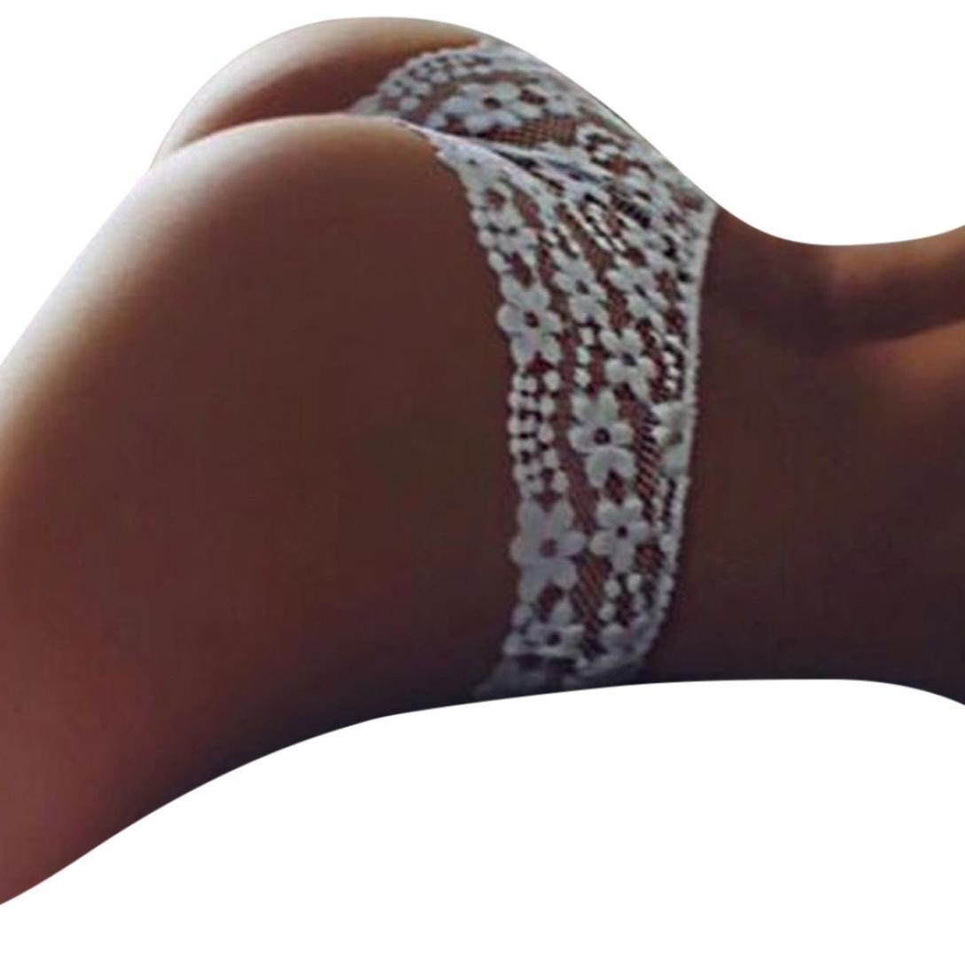 twinsmall新しい簡単なシームレスな伸縮性レースEverydayショーツセクシーランジェリー下着女性用 Medium ホワイト B07BZLY56W