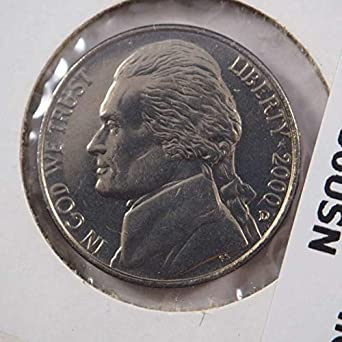 2000 P Jefferson Nickel Nickels Ungraded at Amazon's Collectible