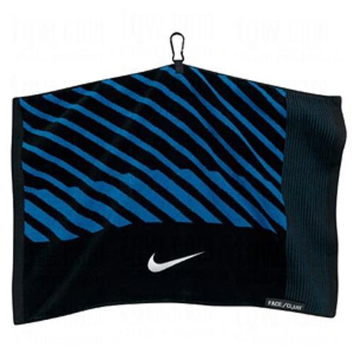 - Nike Face/Club Jacquard Towel, Black/White/Military Blue