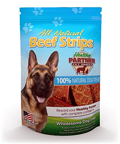 Healthy Partner Turkey - Healthy Dog ALL NATURAL BEEF JERKY 24 oz MADE IN USA (3 BAGS)