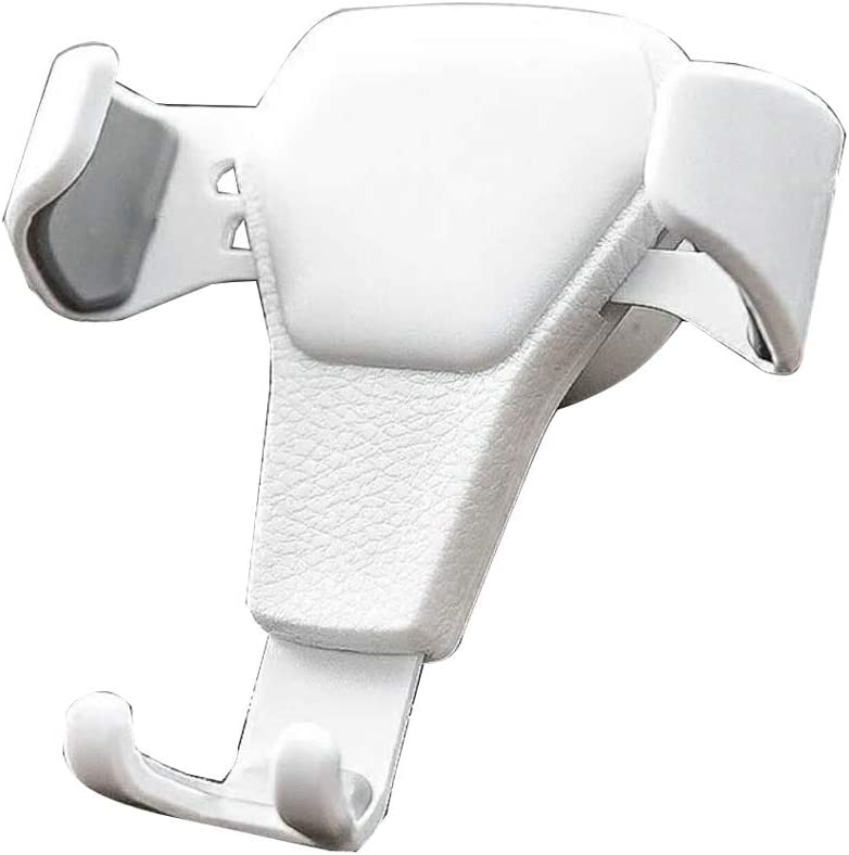 Universal Anti-Skid Car Phone Holder Air Socket Mount Clip Clamp Adjustable Mobile Phone Stand Bracket GPS Car Gravity Bracket Mobile Phone Holder Color : White AICH Cell Phone Stand