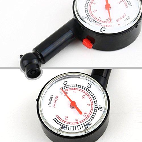 Garciakia Car Vehicle Motorcycle Bicycle Dial Tire Gauge Meter Pressure Tyre Measure