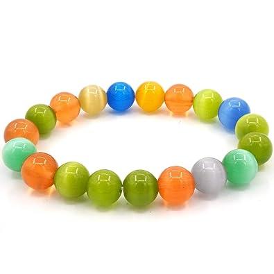 Bracelet Pierre D'opale Chicj Coloré De Perles En amp;y Cristal XwZOPkuTi