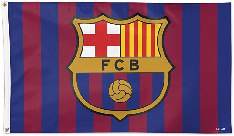 amazon com wincraft fc barcelona 3x5 flag international soccer banner garden outdoor wincraft fc barcelona 3x5 flag international soccer banner
