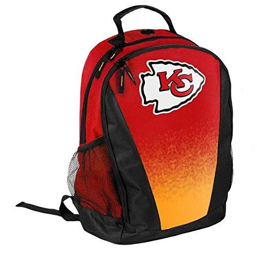 NFL Football Team Logo Gradient Print Primetime Deluxe Backpack (Kansas City Chiefs)