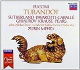 : Puccini - Turandot / Sutherland · Pavarotti · Caballé · Ghiaurov · Krause · Pears · LPO · Mehta