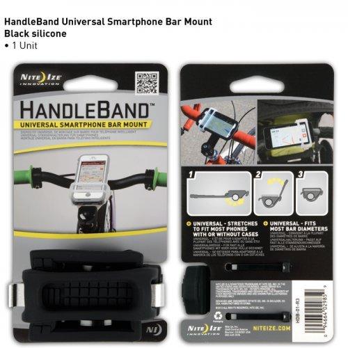 Nite Ize HandleBand Universal Smartphone Bike Handlebar Mount, Black (Smart Cycling Shop Bike)