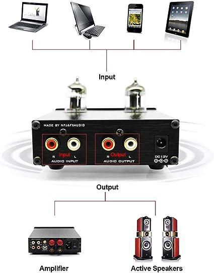 Gamogo FX-Audio TUBE-03 Mini HiFi Preamplificador de Audio 6K4 ...