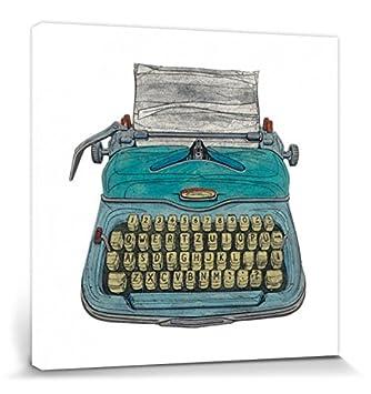 1art1® Máquinas De Escribir - Typewriter, Barry Goodman Cuadro, Lienzo Montado Sobre Bastidor