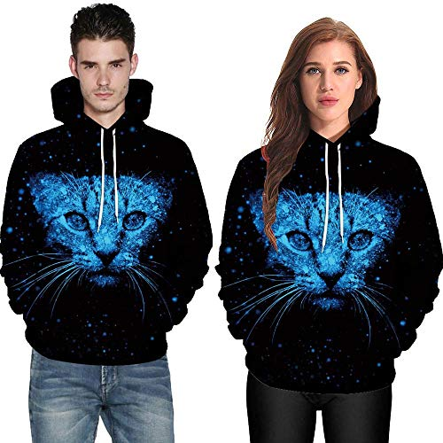 POHOK HOT!Men Women Long Sleeve Shirts,Mode 3D Cat Print Couples Hoodies Top Blouse by POHOK