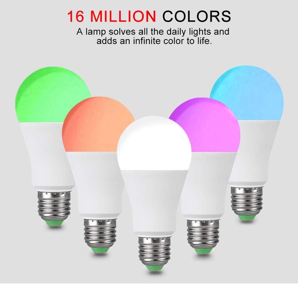 Bombilla Bluetooth Inteligente, Bombilla LED 15W con Cambio Color ...