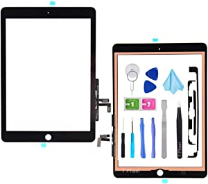 T Phael Black Digitizer Repair Kit for 2017 iPad 9.7(A1822, A1823)/ iPad 5 iPad Air 1st Touch Screen Digitizer Replacement (Without Home Button) with Tools + PreInstalled Adhesive
