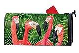 MailWraps Studio M Mailbox Cover Flamingo Gathering