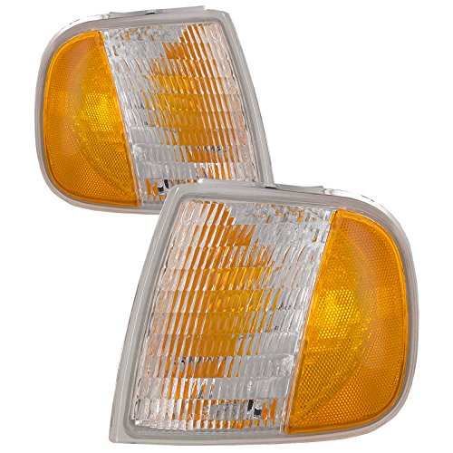 HEADLIGHTSDEPOT Signal Lights Compatible with Ford Expedition F Super Duty F-150 F-250 F-350 F-450 F-550 Fits Limited Build Dates Includes Left Driver and Right Passenger Side Corner Signal Lights