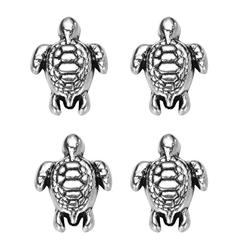 Lovely Turtle - zhangdongDIY 160 pcs Antique Silver Lovely Turtle Pendant Bead Fit Original Charms Bracelet Jewelry Making 9x7mm