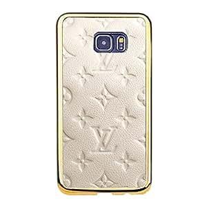Classic Image Luxury Louis Diy Vuitton Mobile Case TPU Golden Border Series for Samsung Galaxy S6 Edge Plus