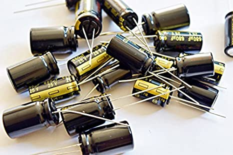 10 Panasonic 2700uF 25V FC series ultralow impedance Electrolytic Capacitors
