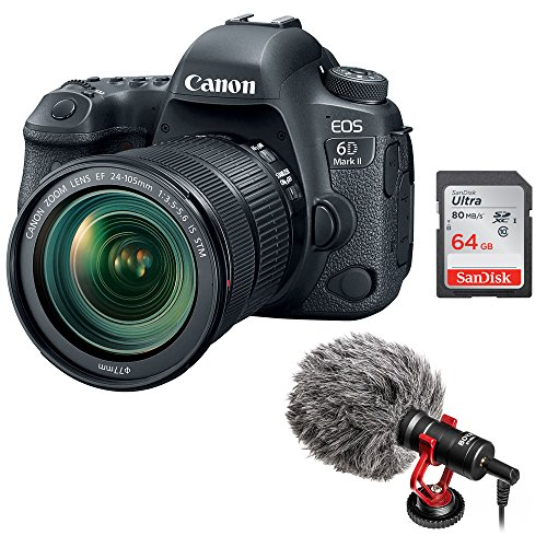 Canon EOS 6D Mark II DSLR Camera with 24-105mm f/3.5-5.6 Len