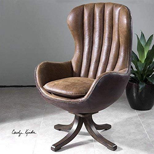 Best living room chair: Uttermost Garrett Mid-Century Swivel Chair