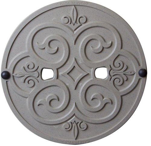 CASA NEWPORT 20-01022 Stone Plastic Skimmer Lid, 9.9-Inch (English Garden Patio Stone)