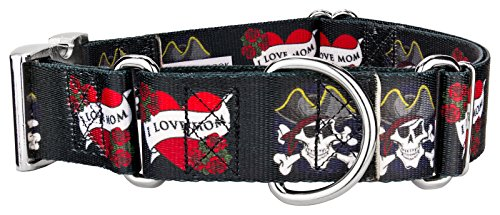 Country Brook Design | 1 1/2 Inch I Love Mom Martingale with Premium Buckle - Medium]()