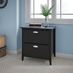 Kathy Ireland Office by Bush Furniture Connecticut Lateral File in Black Suede Oak