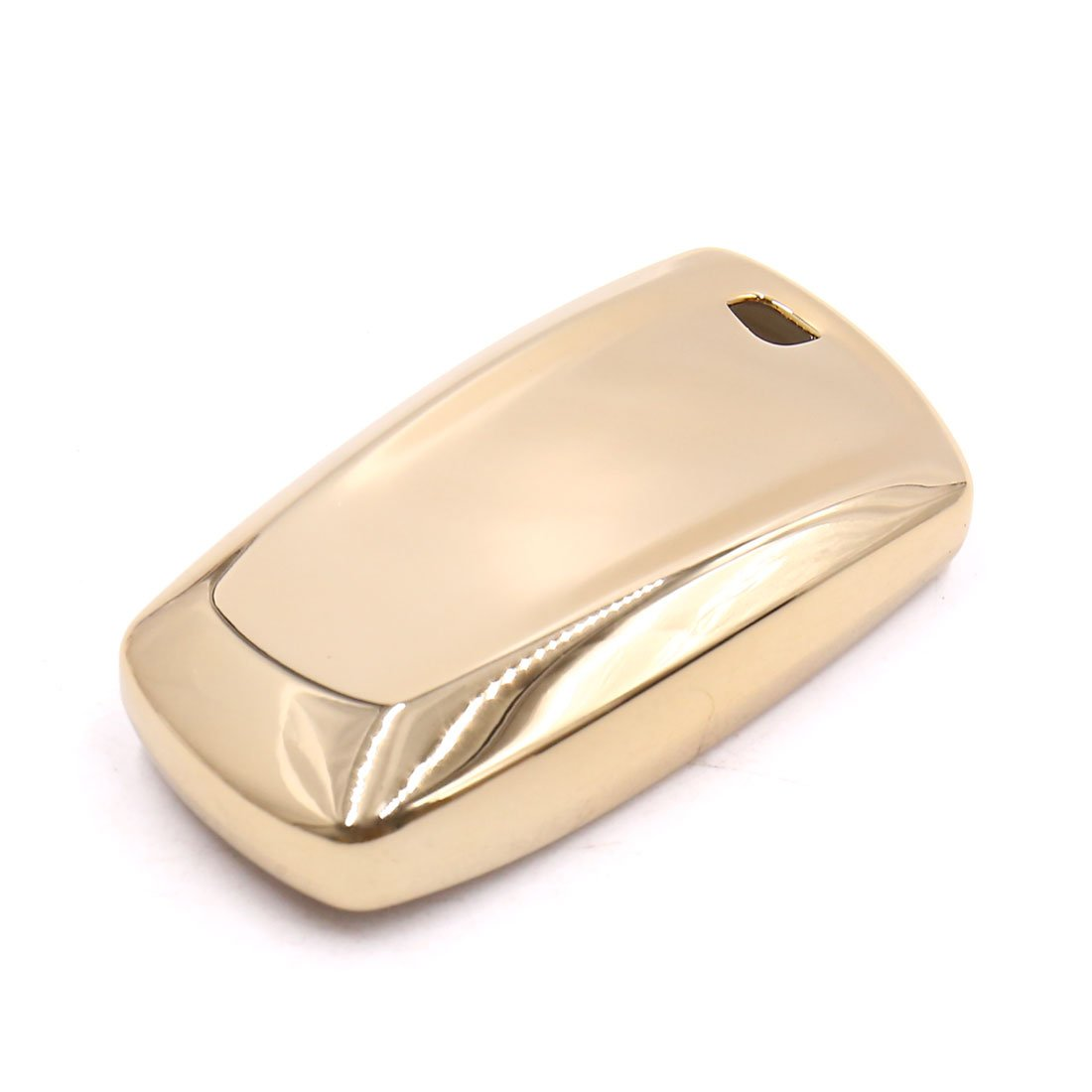 uxcell Gold Tone Remote Key Case Holder Shell Protect Housing Cover For BMW 7 Series